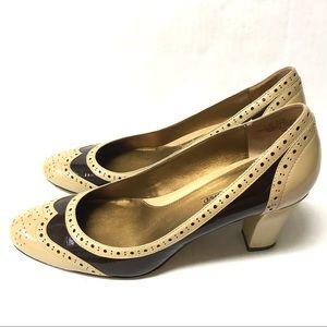 8748c5cbfdd1d Circa Joan David 2 tone fall oxford granny heels 8